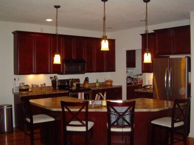 Kitchen and Island with Seating