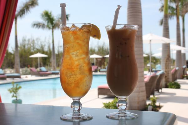 Get your favorite tropical drinks at Treasure Sands Club one of the favorite local spots