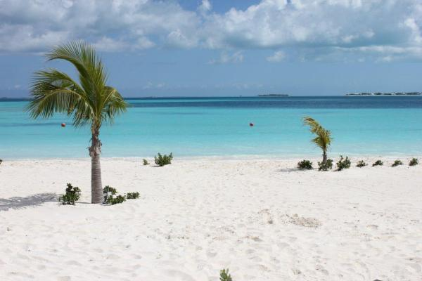 View of Treasure Cay beach from Treasure Sands Club