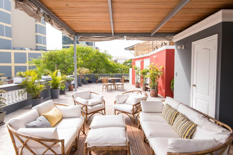 Shared rooftop terrace