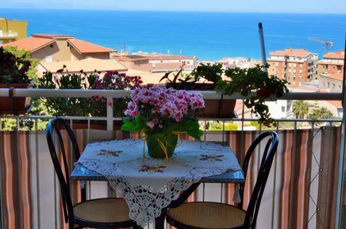 Balcony with beautiful sea view