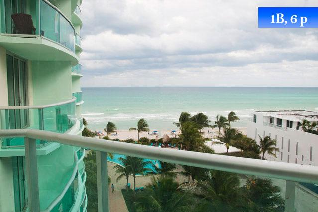 Sea View Apt For 6 In Hollywood Beach, Fl (Miami)