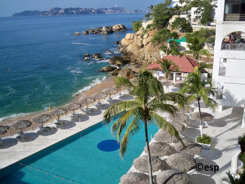 Fabulous location on the beach in center of Acapulco's tourist Golden Zone with million dollar view!