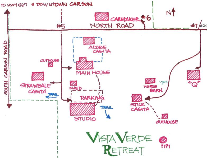 A Map, almost to scale, of the retreat