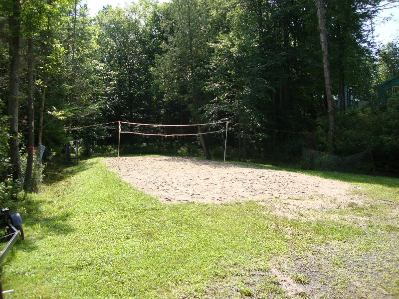 Beach volleyball court for games with the gang