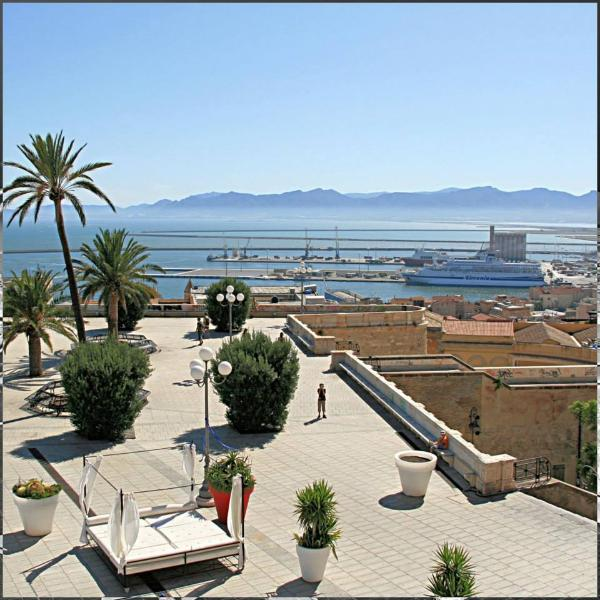 city view at the Bastion of Cagliari