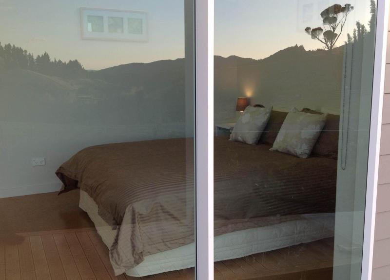 Reflection of vines in Bedroom window