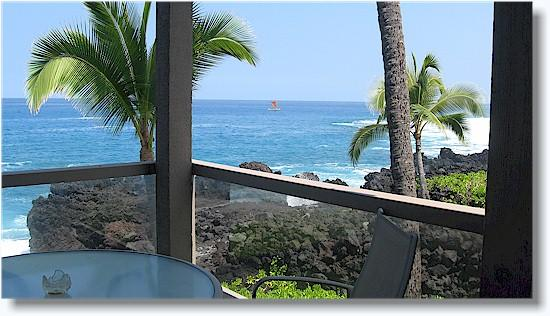 Surf and Racquet 1201 2/2 Oceanfront, holiday rental in Kailua-Kona