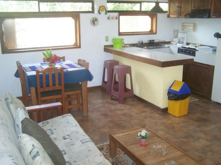 Cocina & sala de la cabaña