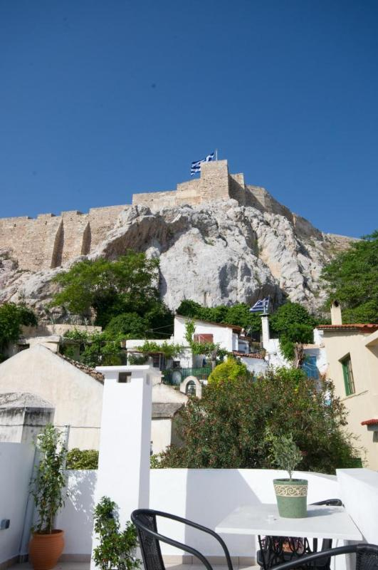 View of the Acropolis from the roof