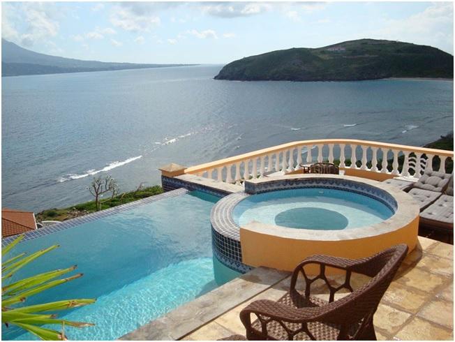Infinity Pool & Jacuzzi overlooking Nevis