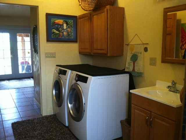 Washer/Dryer access in Bath
