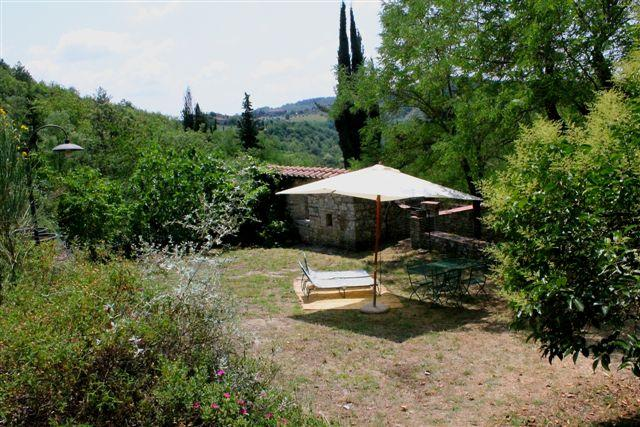 The Sun Terrace and its View of the Chianti Countryside. Olives, Cypresses, Vines, Fields and Woods