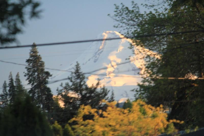 Partial View of Mt. Hood from Dining Room