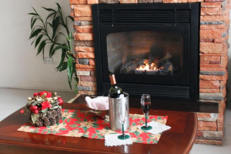 A fireplace and red wine are the perfect companions for cold nights in Baguio.