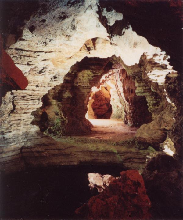Pueden visitar las grutas bajo la villa con un tour gratis todos los jueves
