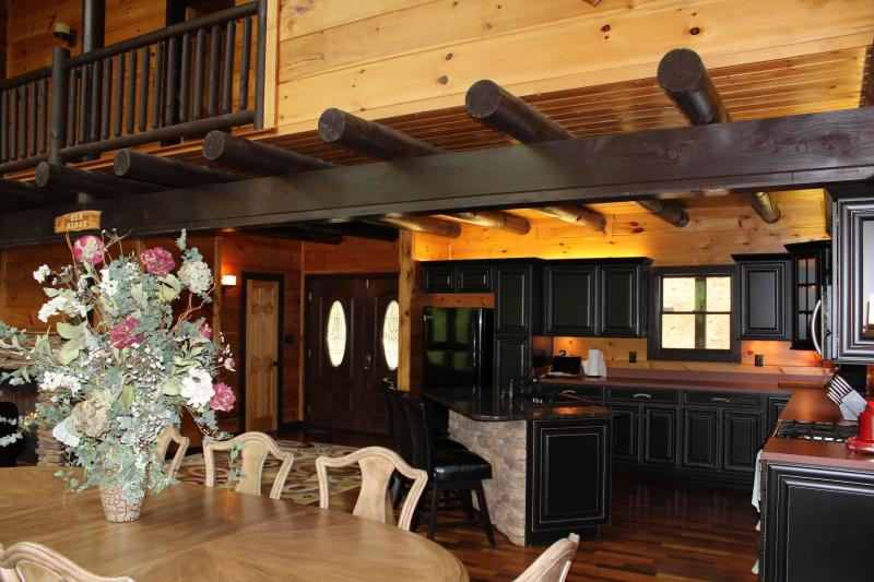 Beautiful wood work through the home, open floor plan makes moving about easy and carefree.