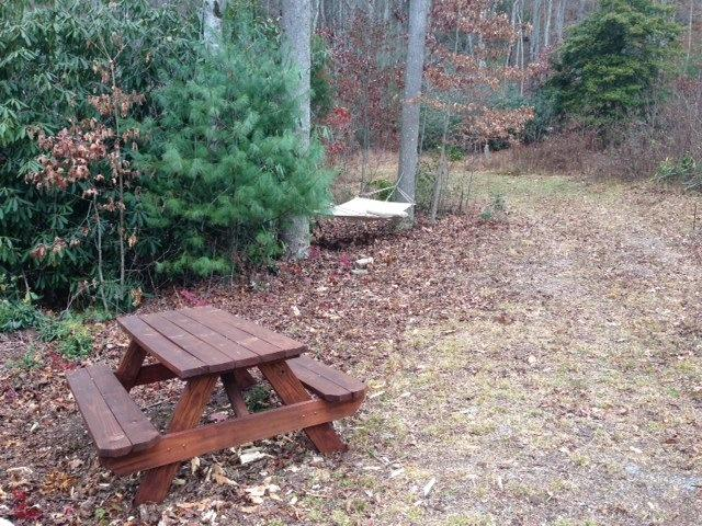 Two picnic tables on the property for larger groups/families to enjoy.