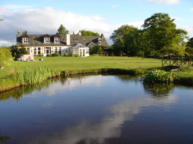 The cottage from the pond