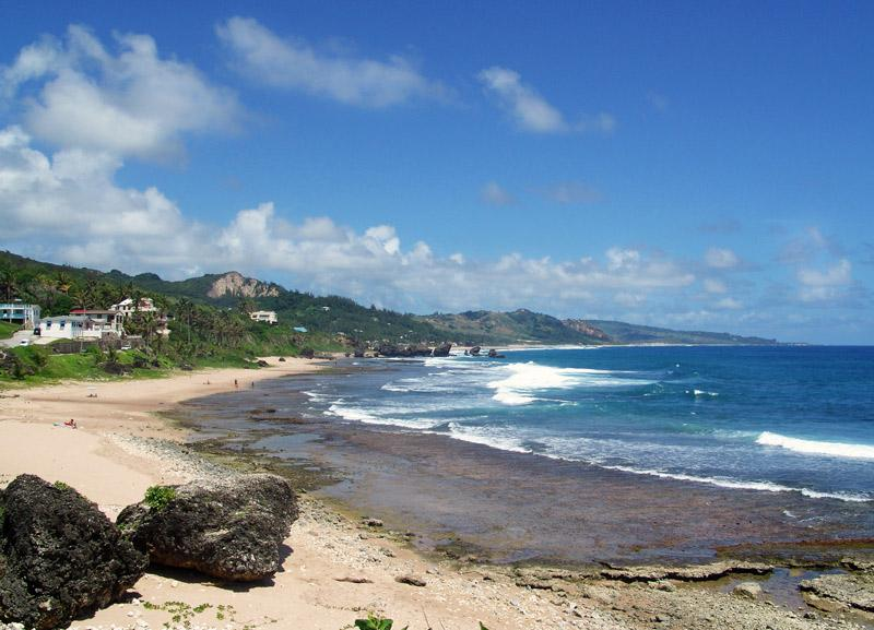 Bathsheba beach infront the house