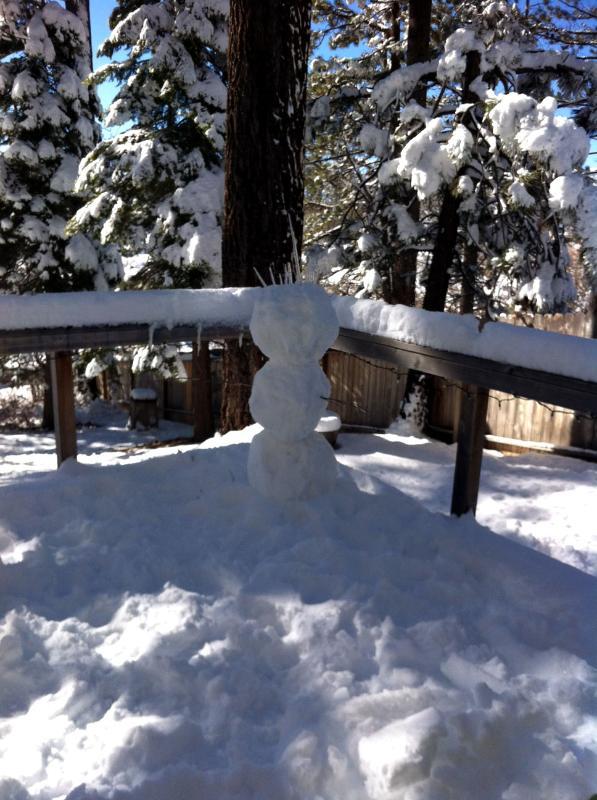 Deck snowman