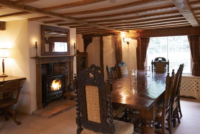 Large dining room with refectory table