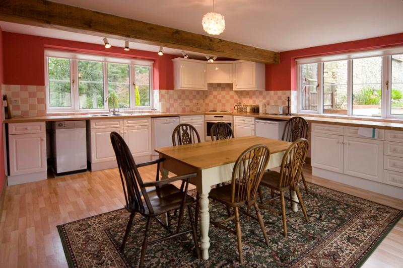 Kitchen in the cottage, perfect for a morning coffee before breakfast in the main house.