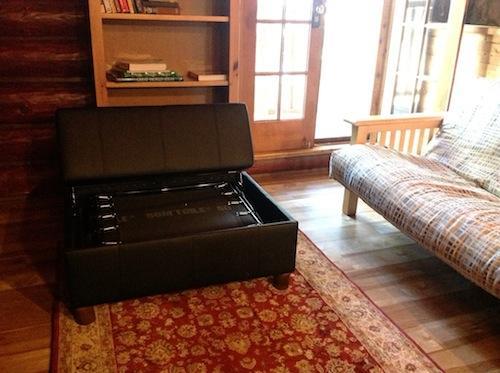 Ottoman open as a single bed