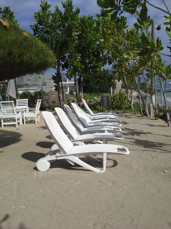 SEAT AREA AT PRIVATE BEACH