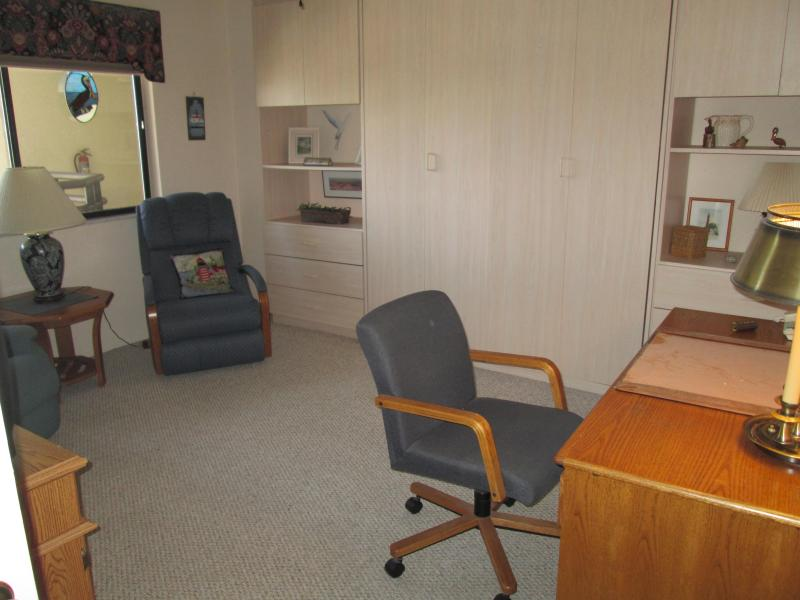 office/spare bedroom with Murphy bed