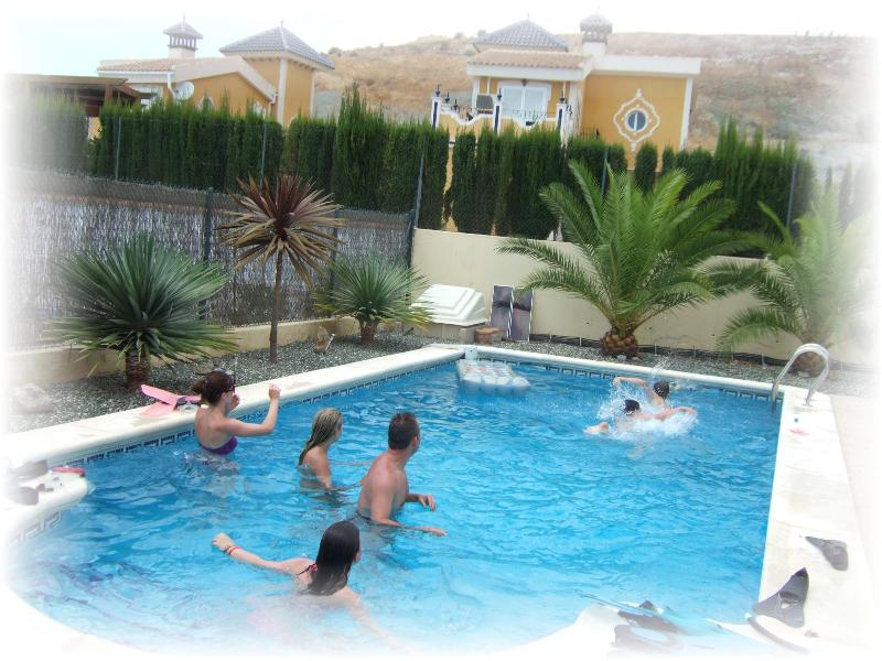 Fun in the Large Private Pool