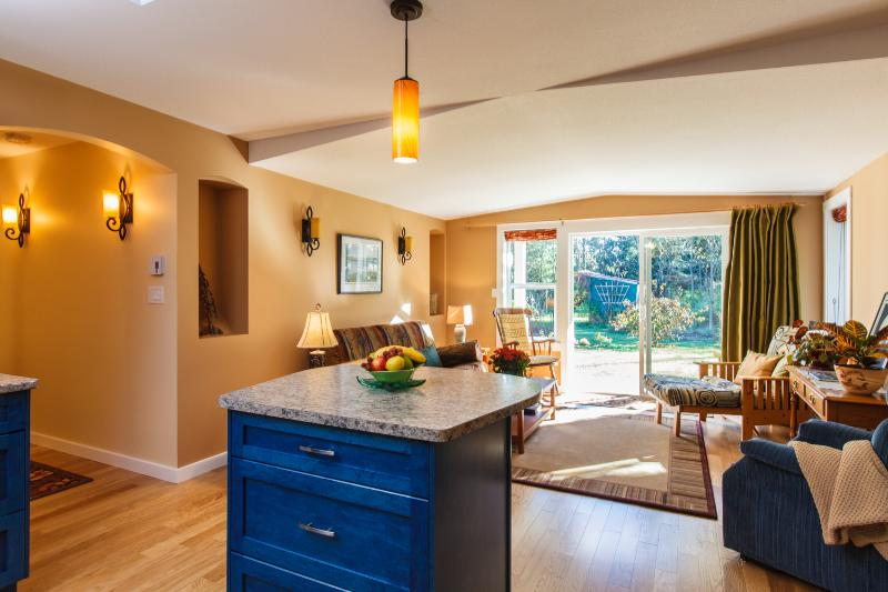 Kitchen Island & Liviing Room