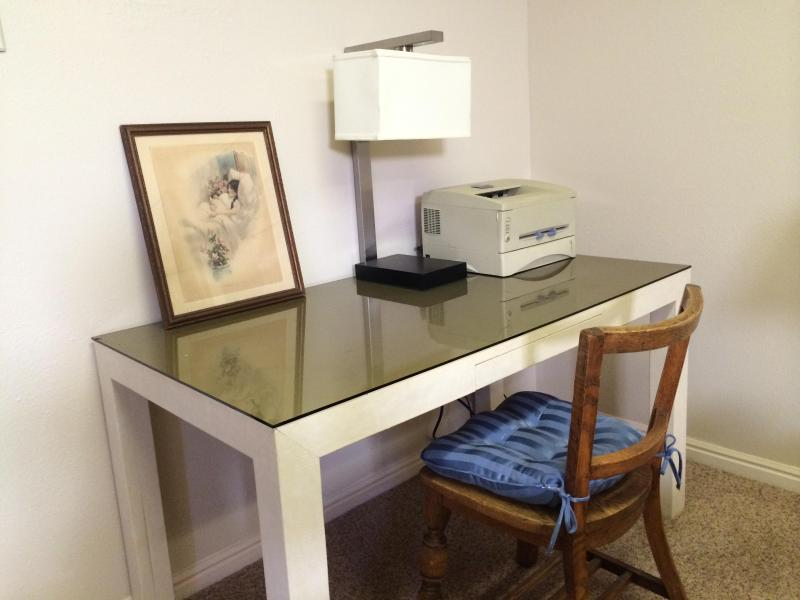 Plenty of space to spread out your papers on this desk.