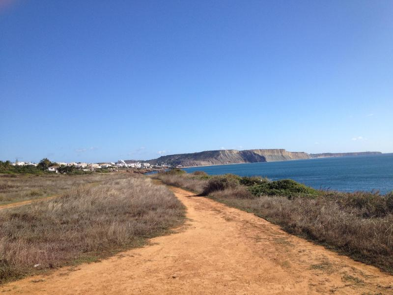 On the west side starts a nice hiking path to Burgau (where you  can eat before returning by bus)