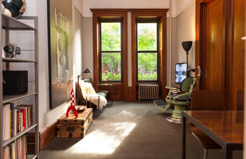 Living room gets plenty of sunlight.