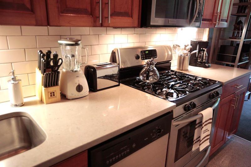 Dishwasher, microwave, blender, toaster, coffeemaker