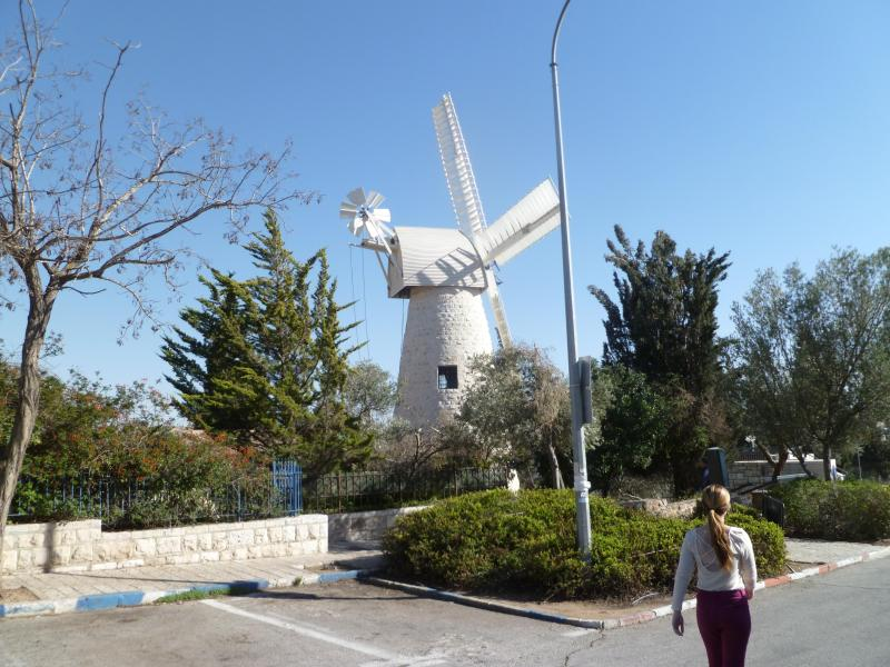 Old windmill in nearby Yamin Moshe.