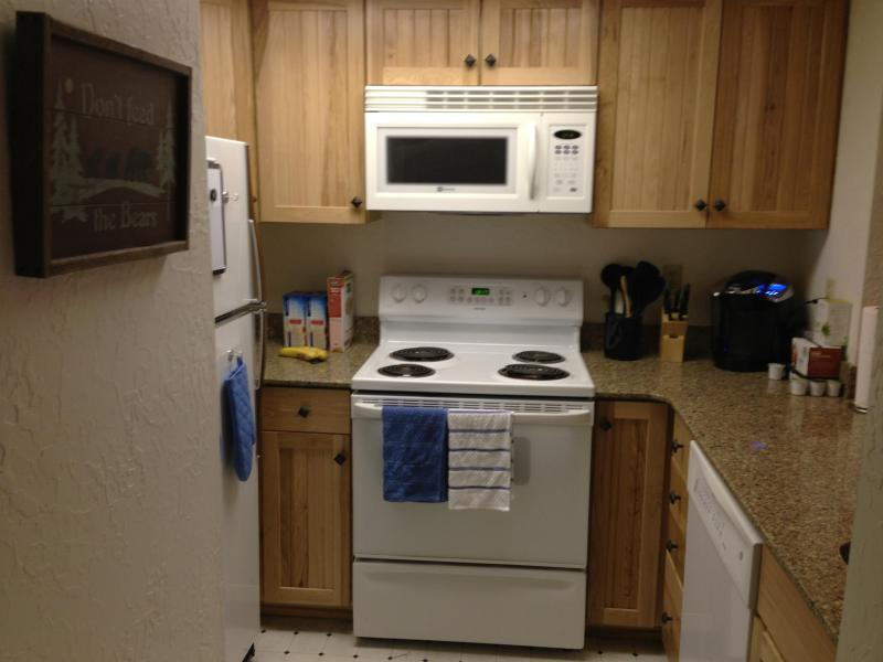 Full kitchen and Keurig coffee machine