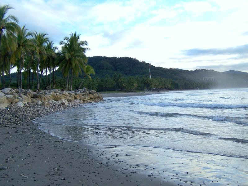 Playa Samara, this beach is a 5 minute walk from the condo!