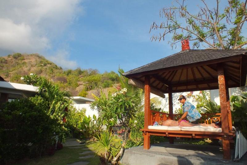 Massage in the garden (gazebo)