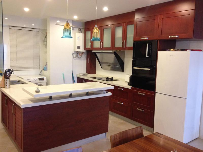 Fully Equipped Kitchen with Oven, Microwave  and all Kitchen Equipment