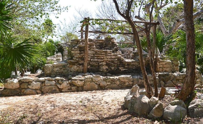 Maya ruins on the back side of our house