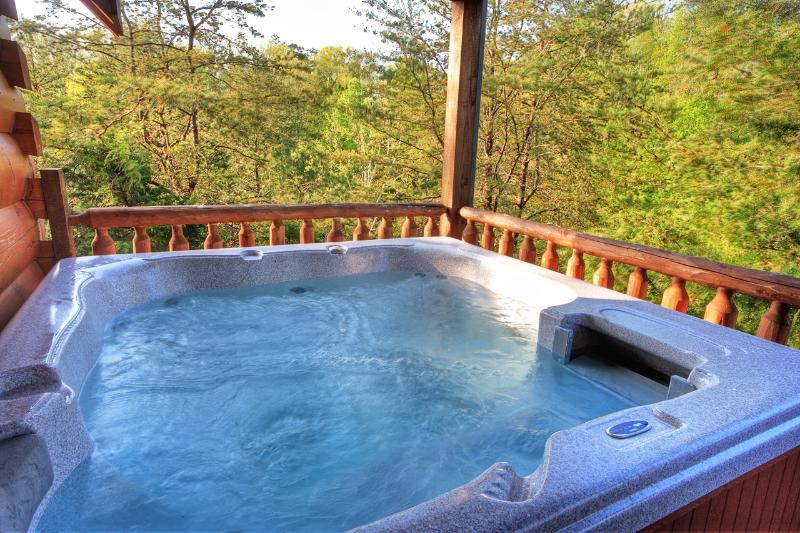 Enjoy the hot tub in privacy