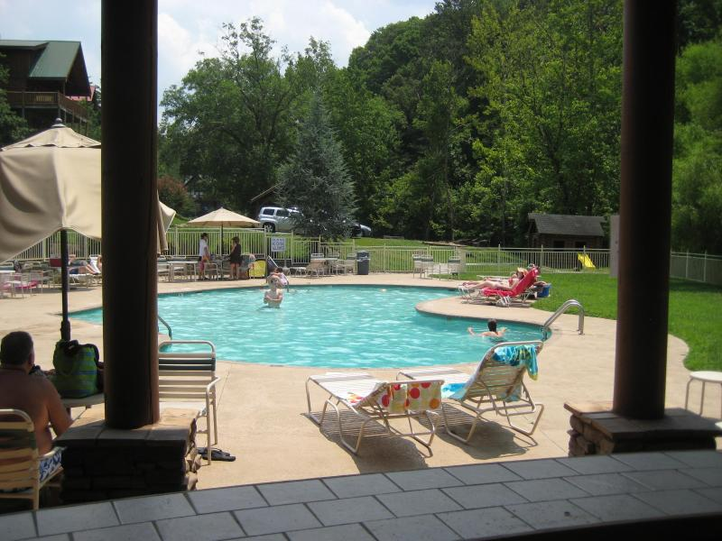 View from pool house