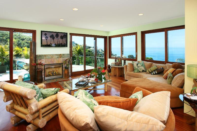 Living room- opens to another deck- ocean vistas abound
