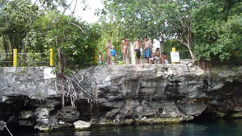 A nearby cenote