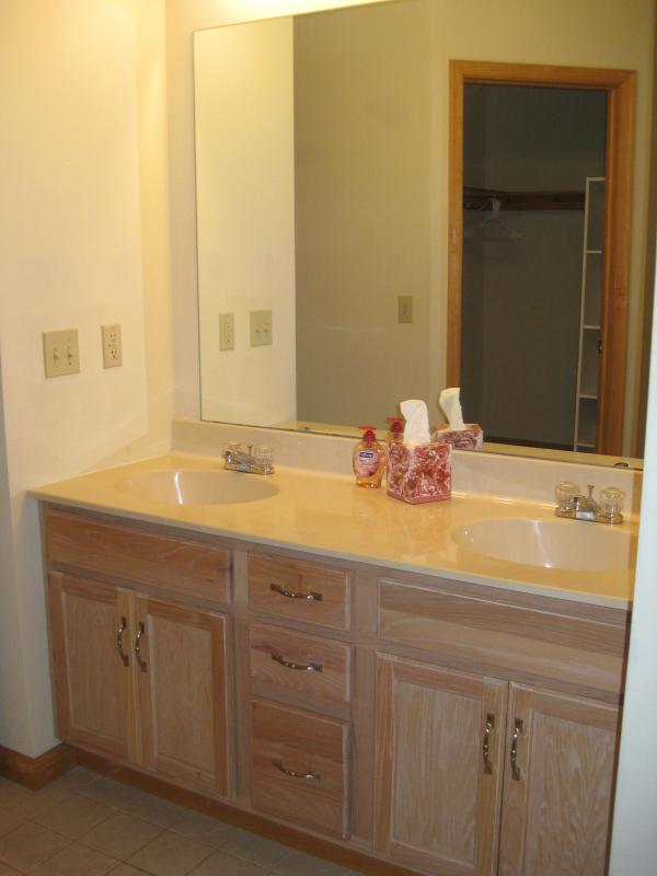 His & Her Sinks in Master Bedroom