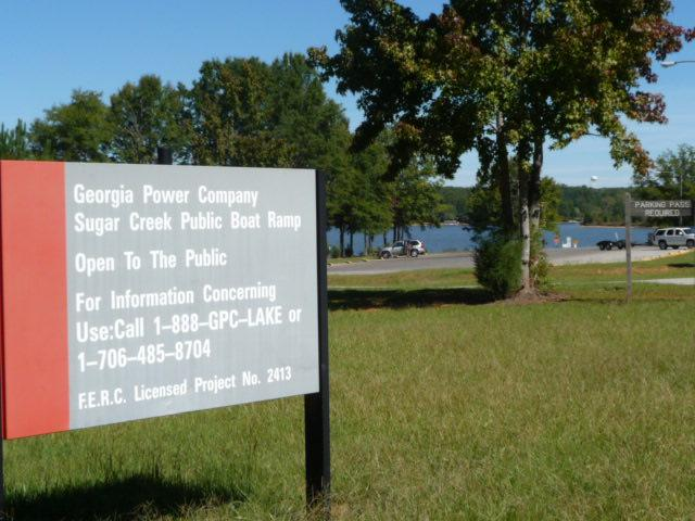 Sugar Creek public boat launch + park/picnic area - at start of street of the lakehouse