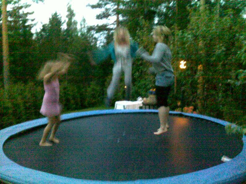 The big trampoline. Diameter 4,2m