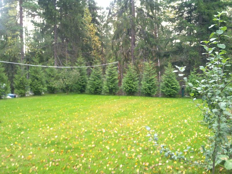 The badminton lawn in October